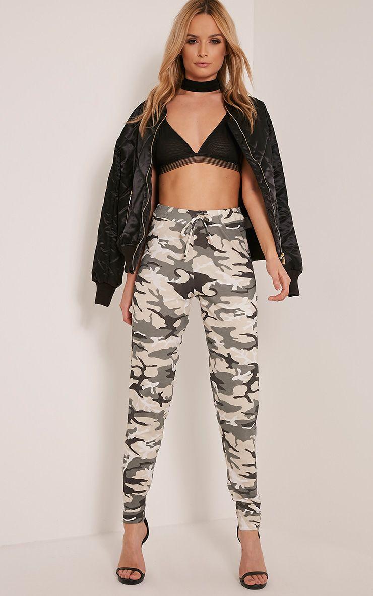 Zina Khaki Camouflage Joggers 1