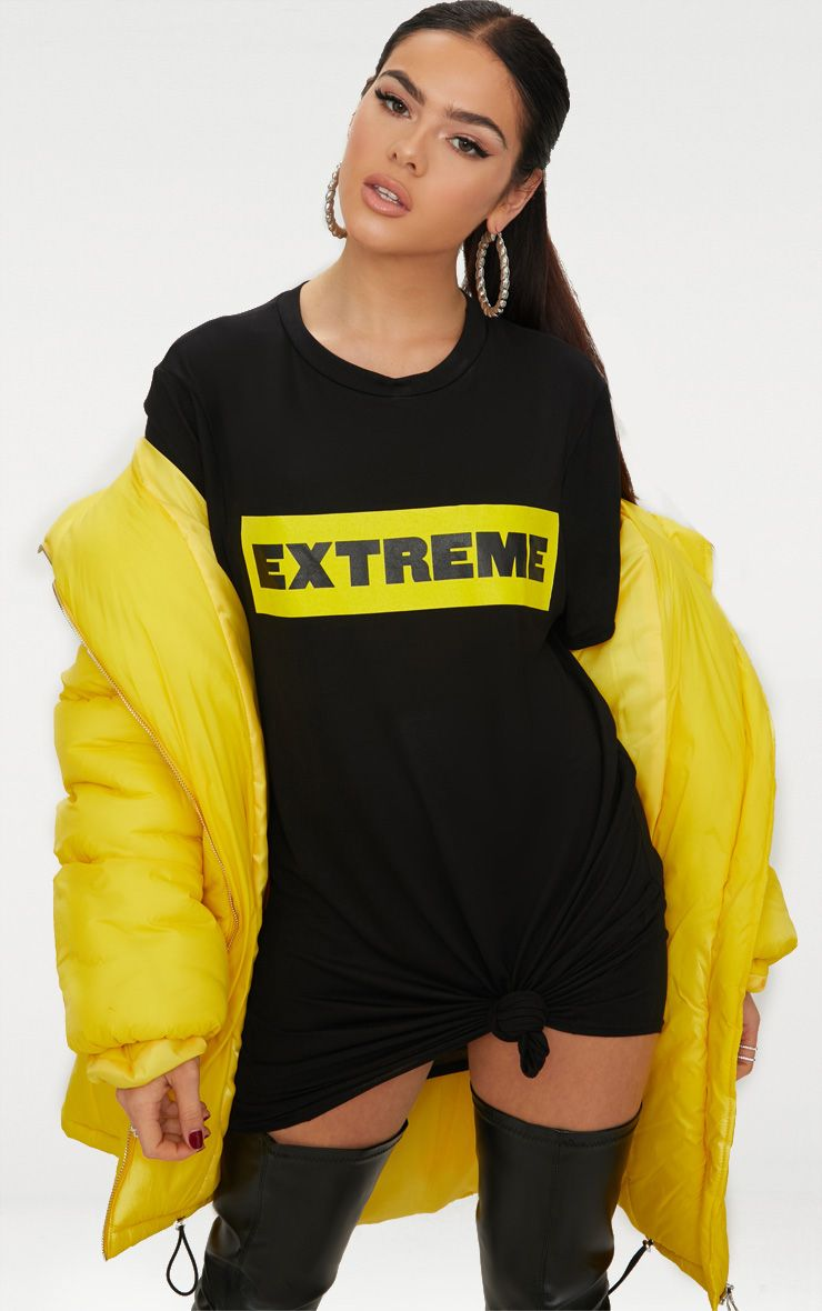 Extreme Black T Shirt Dress