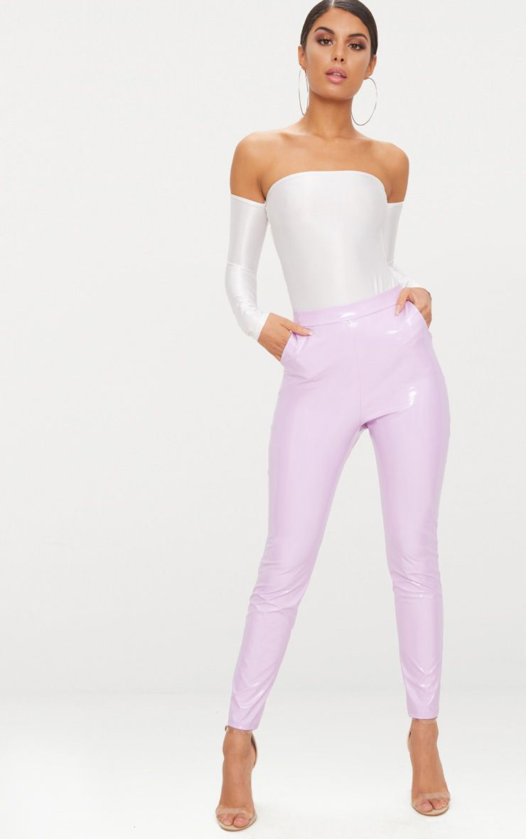Lilac Vinyl Leggings  1