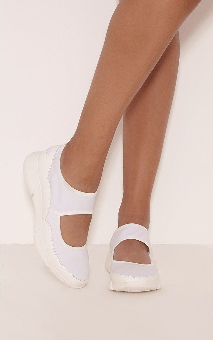 Lex White Casual Trainers