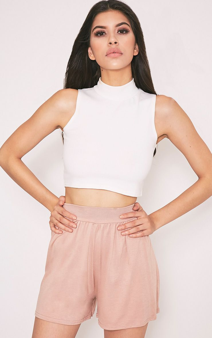 Lucilla Nude Jersey Floaty Shorts 1
