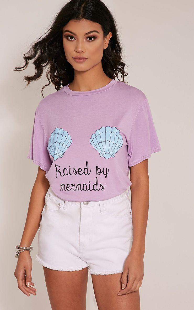 Raised By Mermaids Lilac T-Shirt 1