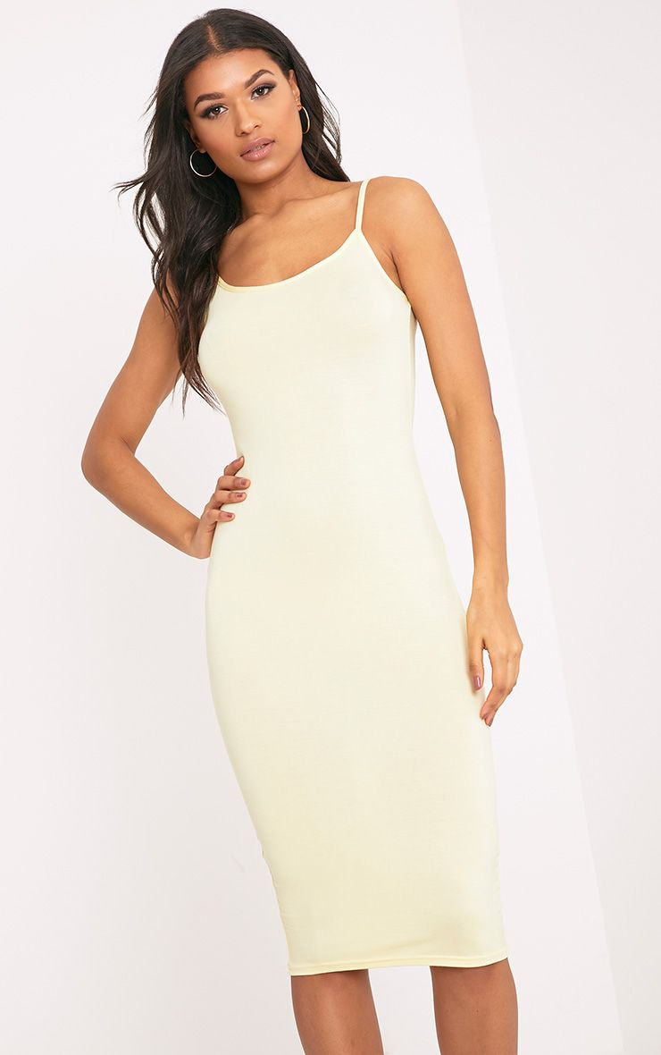 Basic Lemon Midi Vest Dress