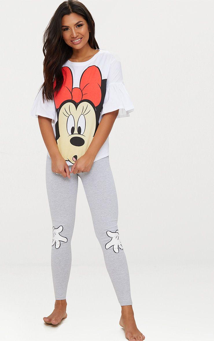 White DISNEY Minnie Mouse Legging Pyjama Set