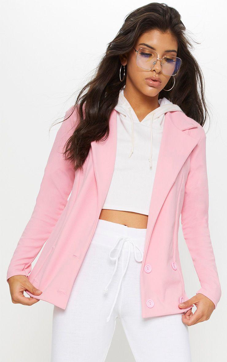 Pink Boyfriend Blazer