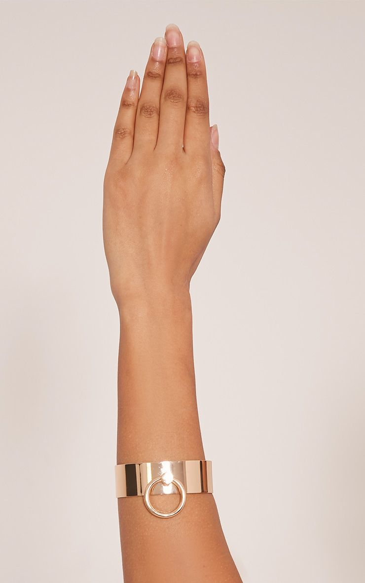 Marika Gold Ring Detail Metal Bracelet