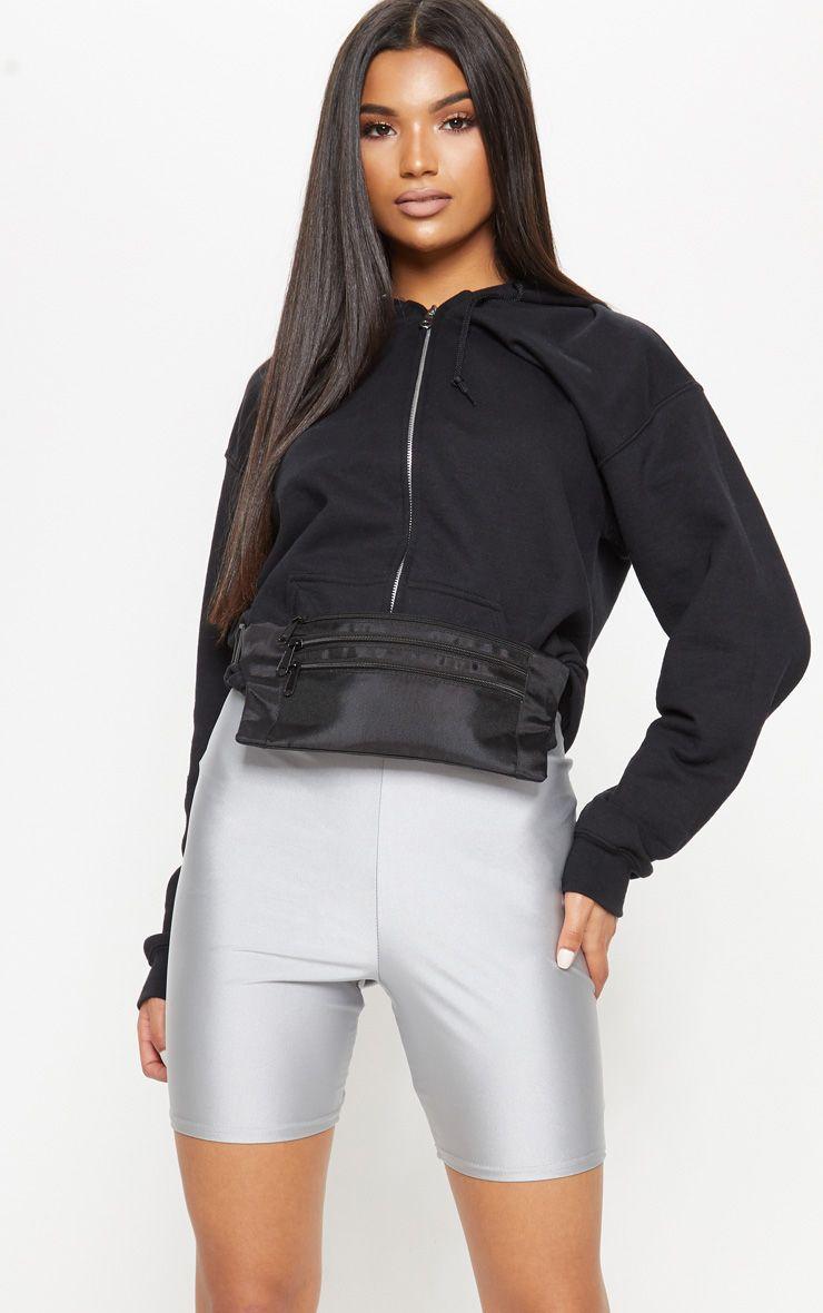 Black Flat Bum Bag