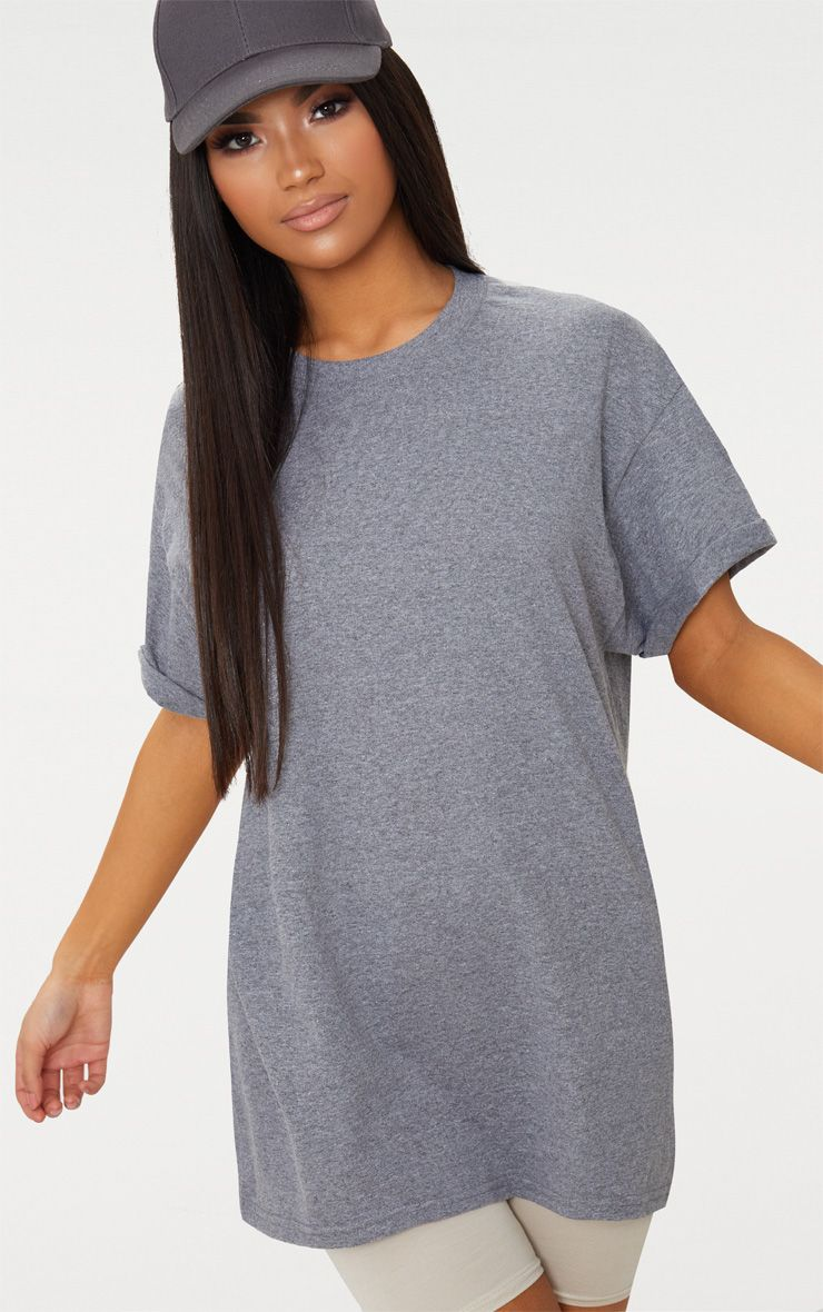 Charcoal Oversized Boyfriend T Shirt