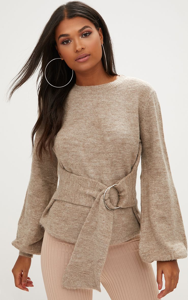 Stone Statement Belt Tie Jumper