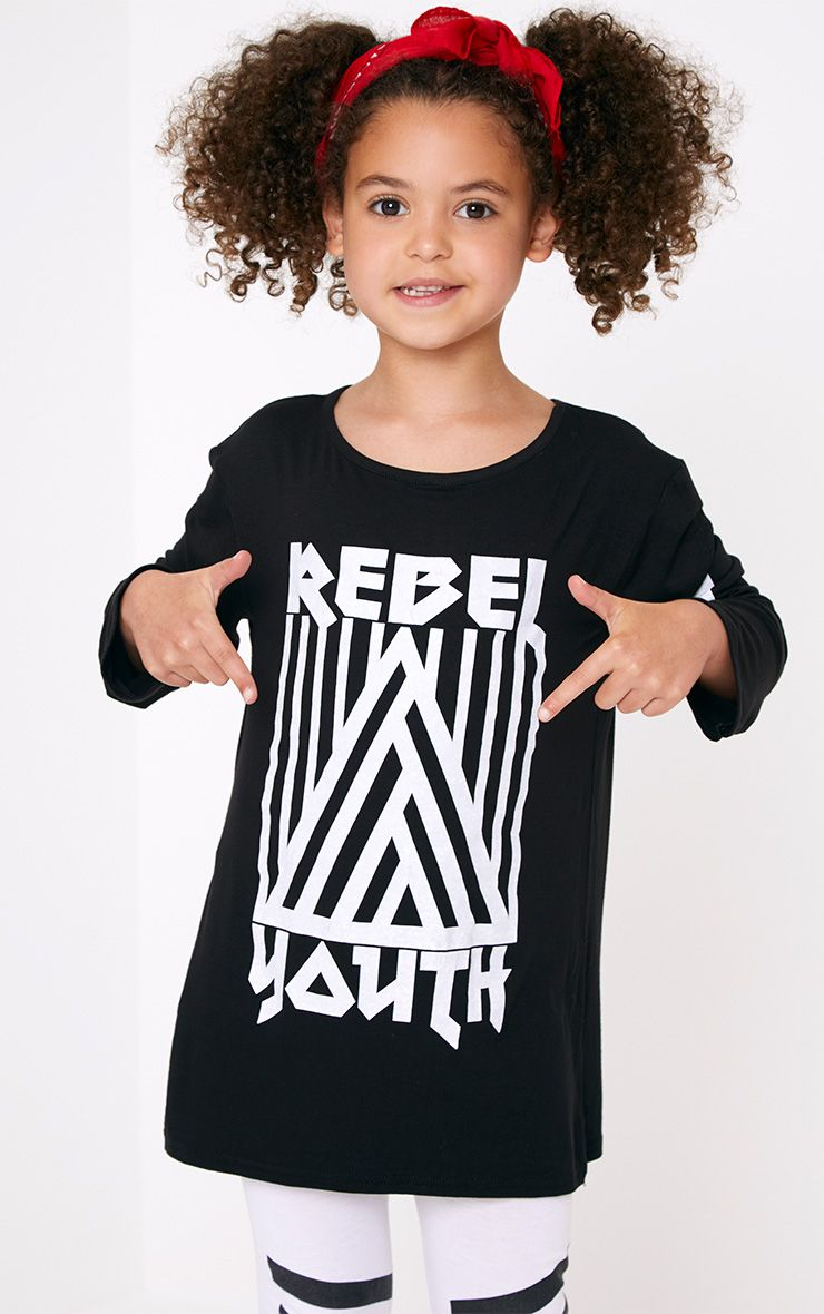 Rebel Youth Black Longline Top