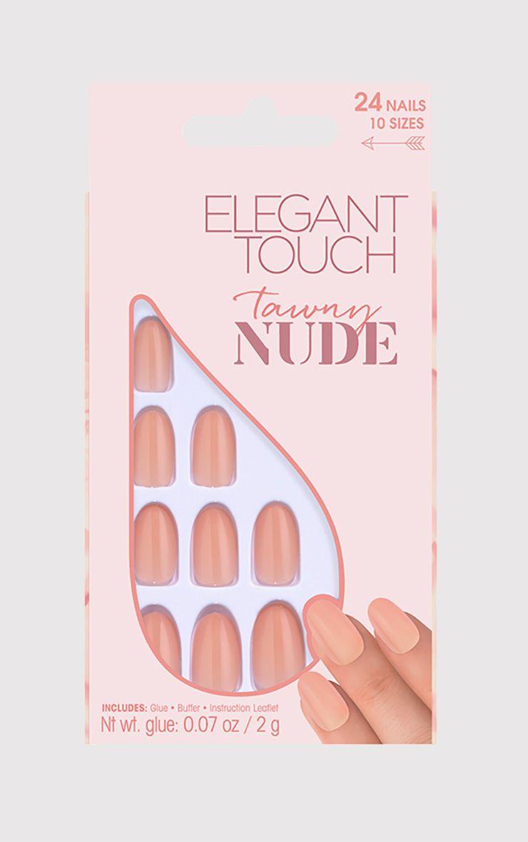 Elegant Touch Tawny Nude False Nails 1