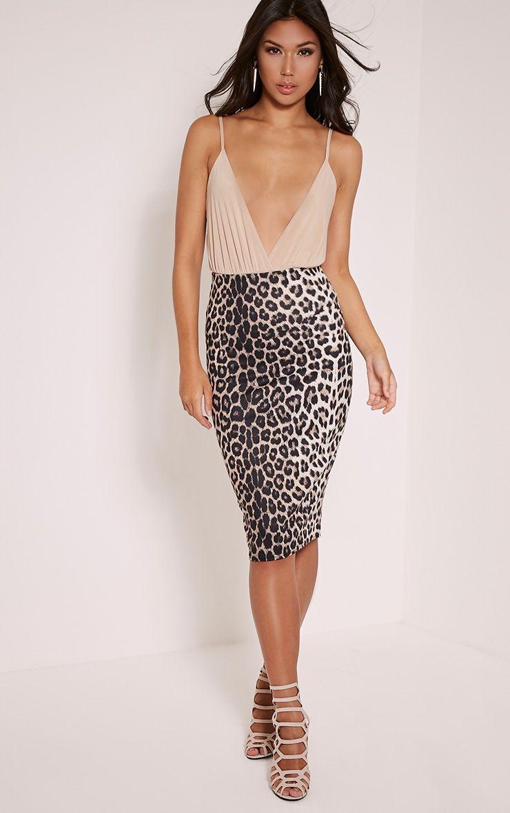 Leanna Leopard Print Midi Skirt 1