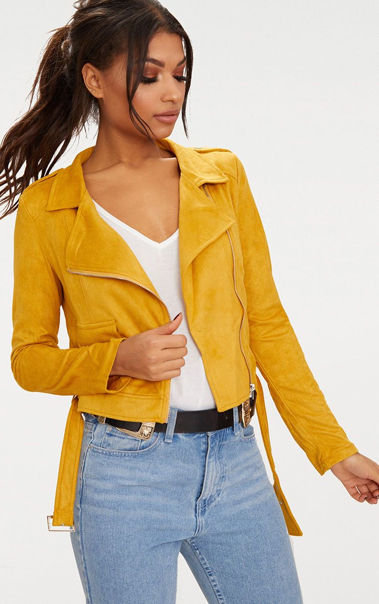 Vestes en daim femme - Blazer jaune moutarde ...