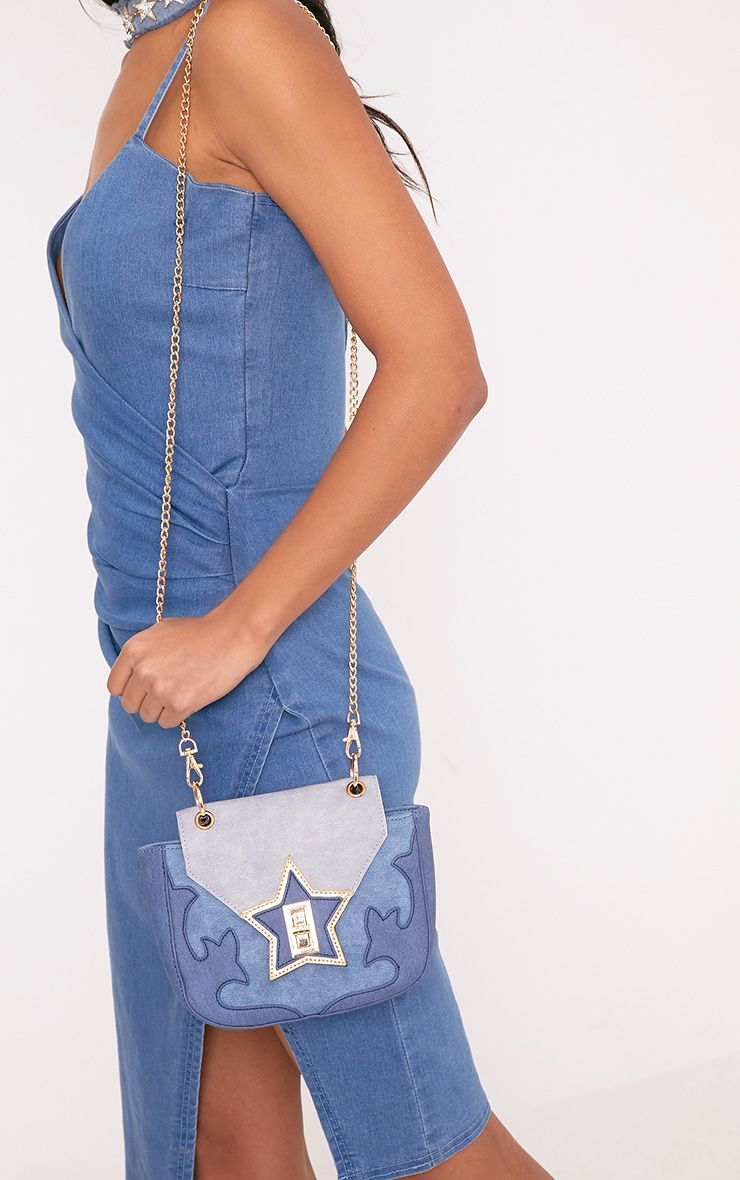 Becky Denim Star Bag