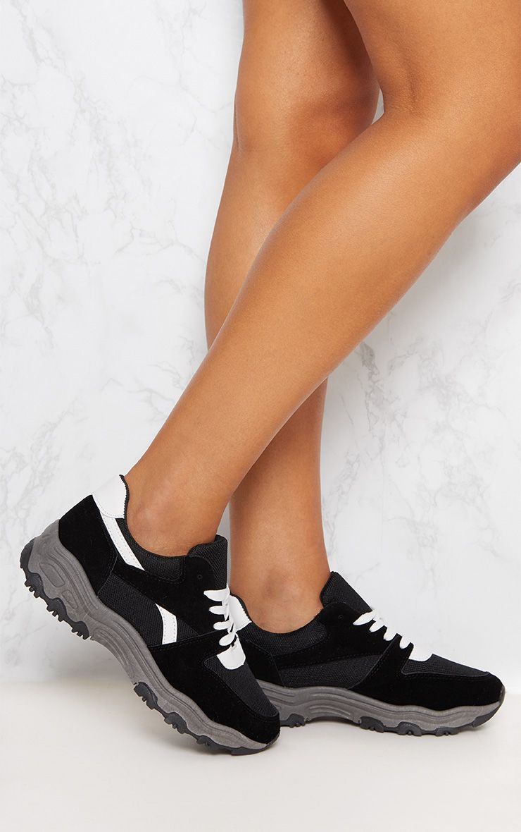 PRETTYLITTLETHING Lace Up Chunky Sneaker sW5xTXIq