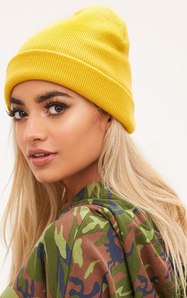Yellow Knitted Beanie