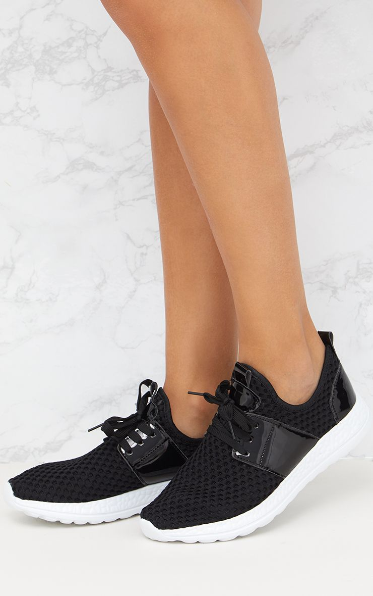 2c4dad947b Black Fishnet Trainers Shoes Prettylittlething Aus | 2019 trends ...