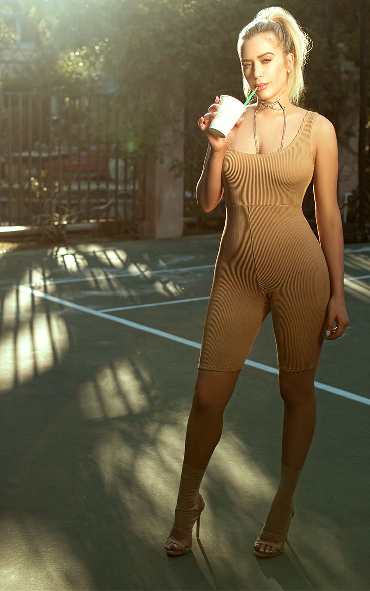 Shape Camel Ribbed Unitard
