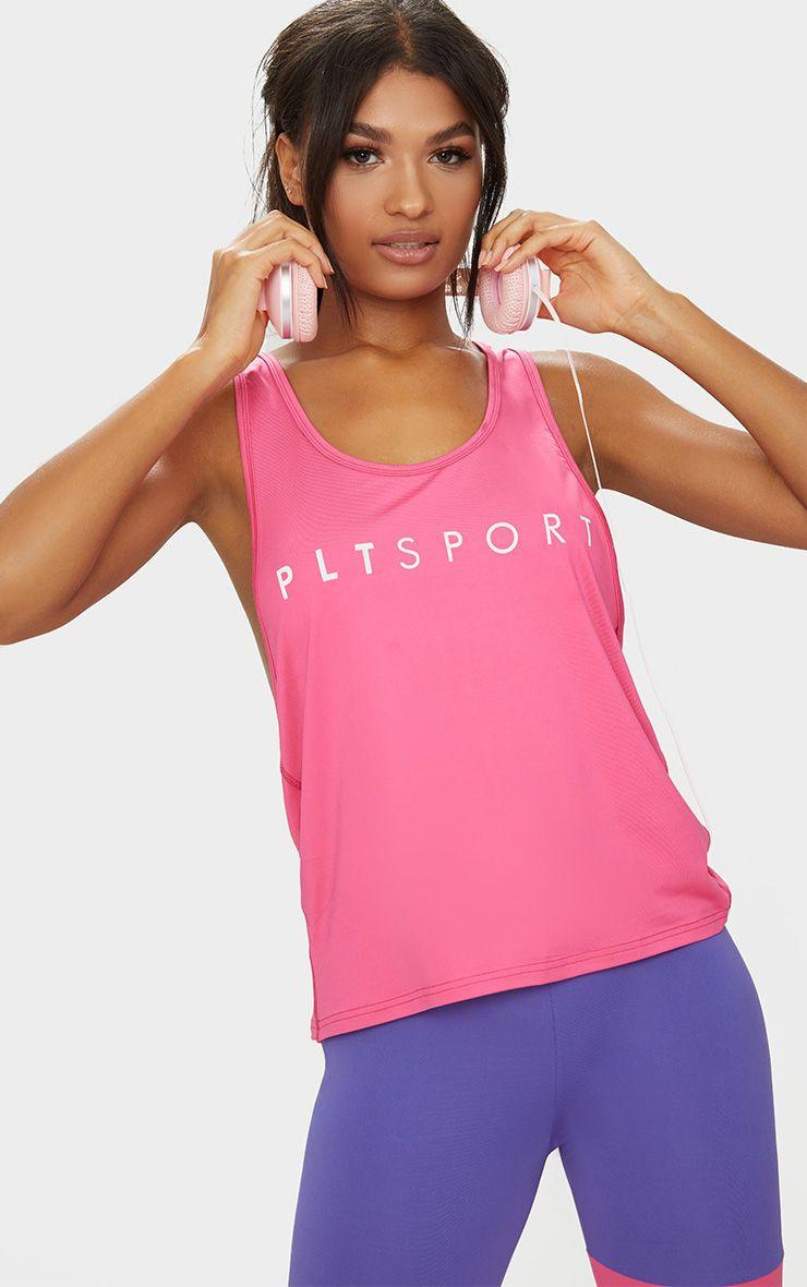PLT Sport Pink Drop Arm Hole Racer Vest