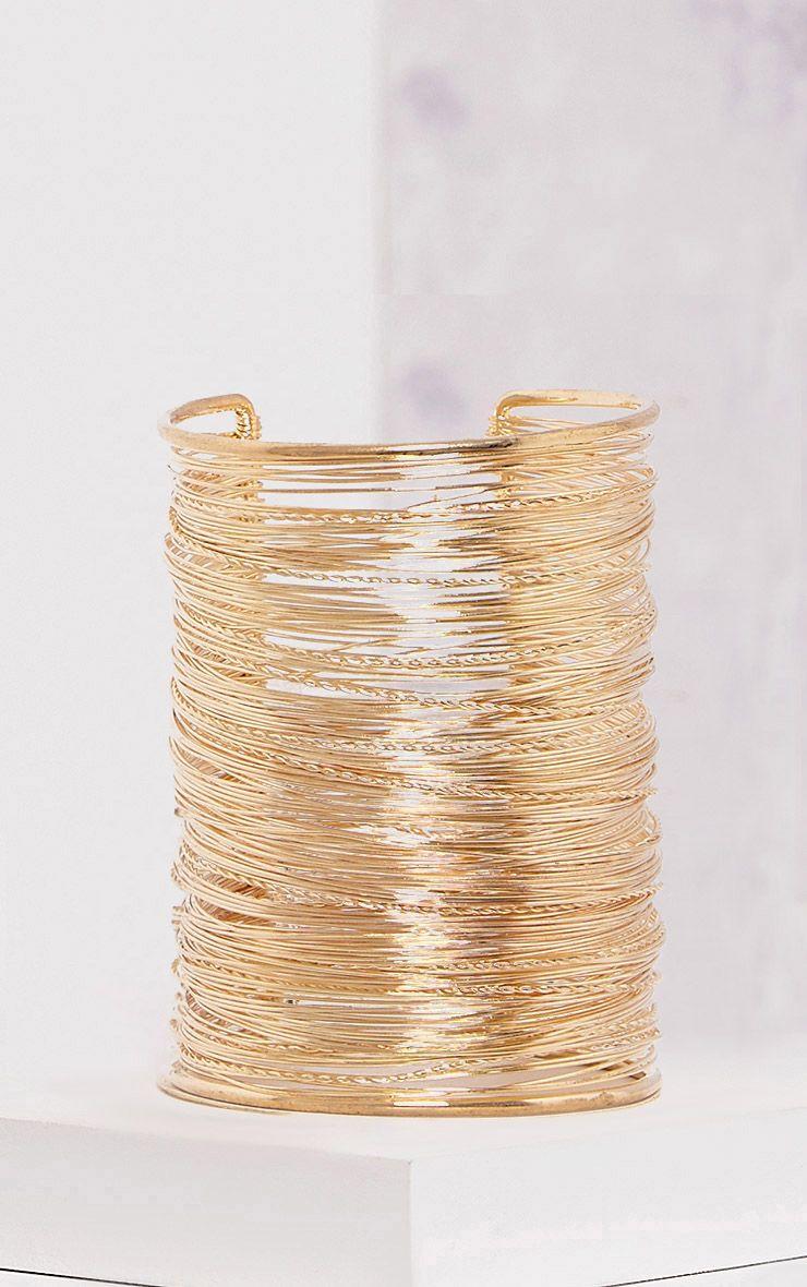 Alonza Gold Multi Layer Arm Bangle