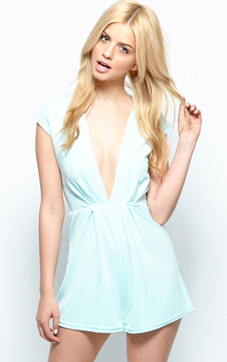 Allie Mint Low Cut Playsuit 1