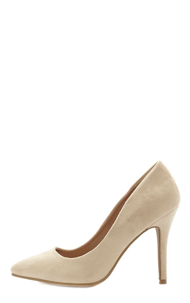 Victoria Cream Suede Stiletto  1