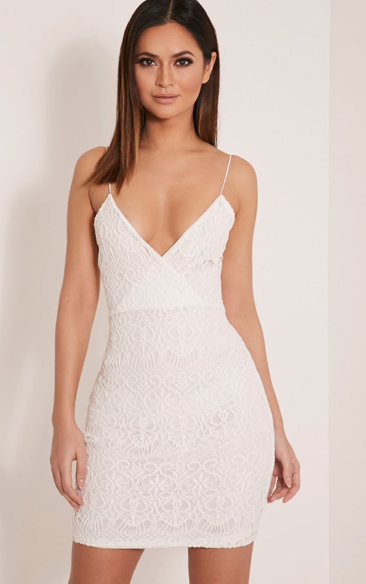Kadie Ivory Eyelash Mini Dress 1