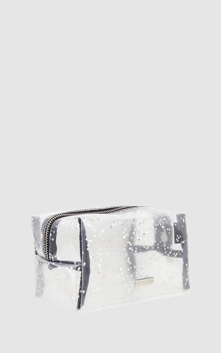 Skinnydip Clear Glitter Make Up Bag 1