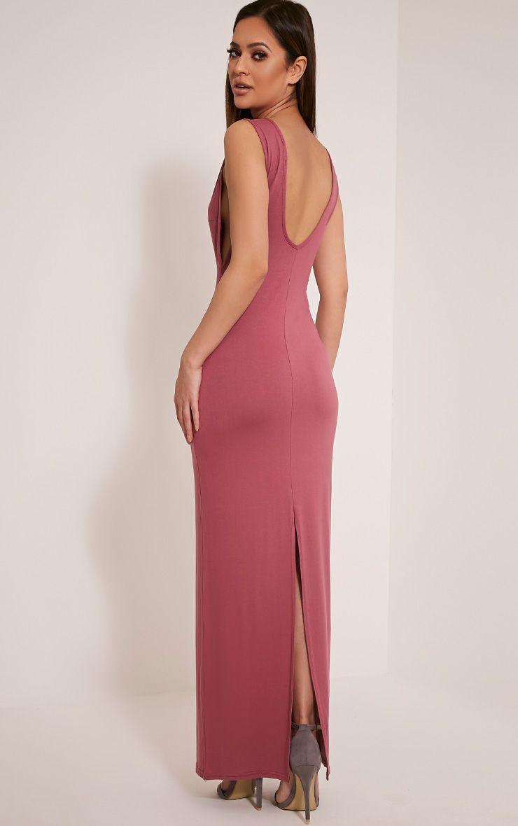 Basic Rose Drop Armhole Maxi Dress 1