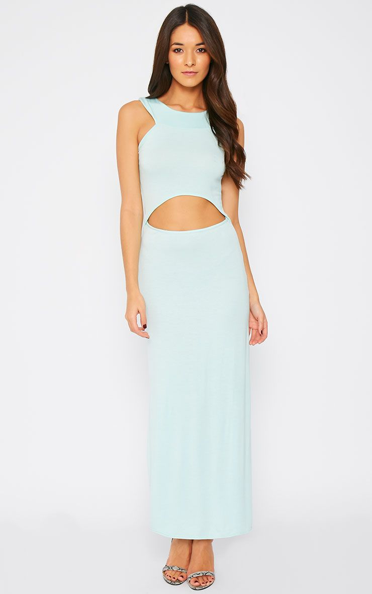 Alexandra Mint Cut Out Maxi Dress 1