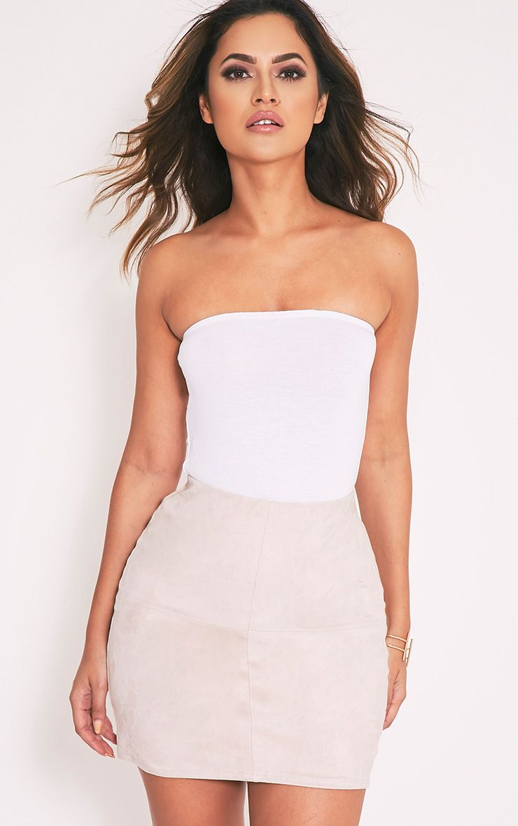 Basic White Bandeau Bodysuit