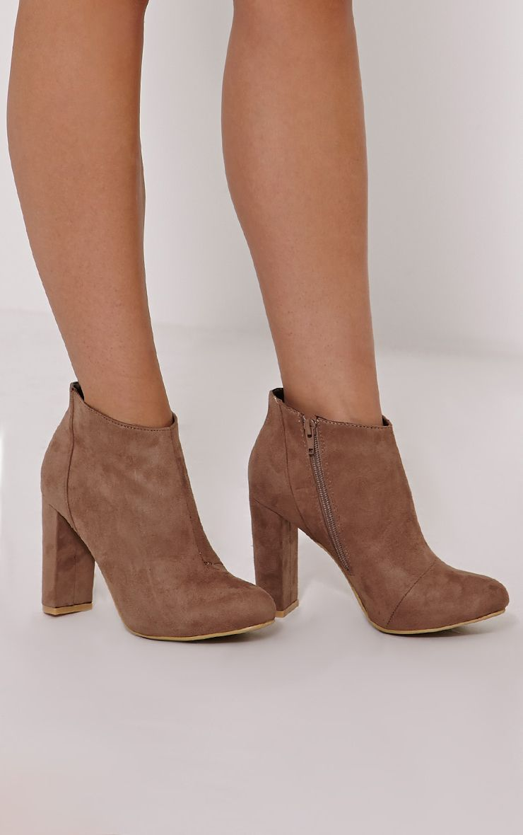 Roux Mocha Suede Ankle Boot 1