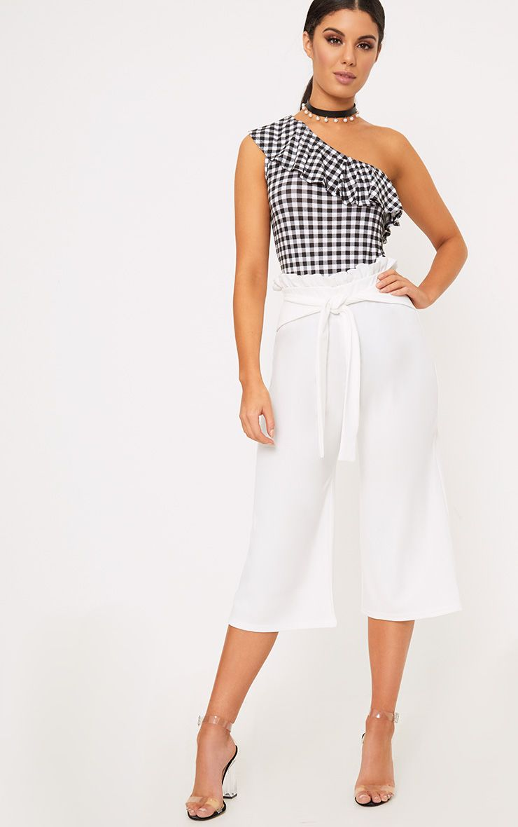 White Paperbag Culottes