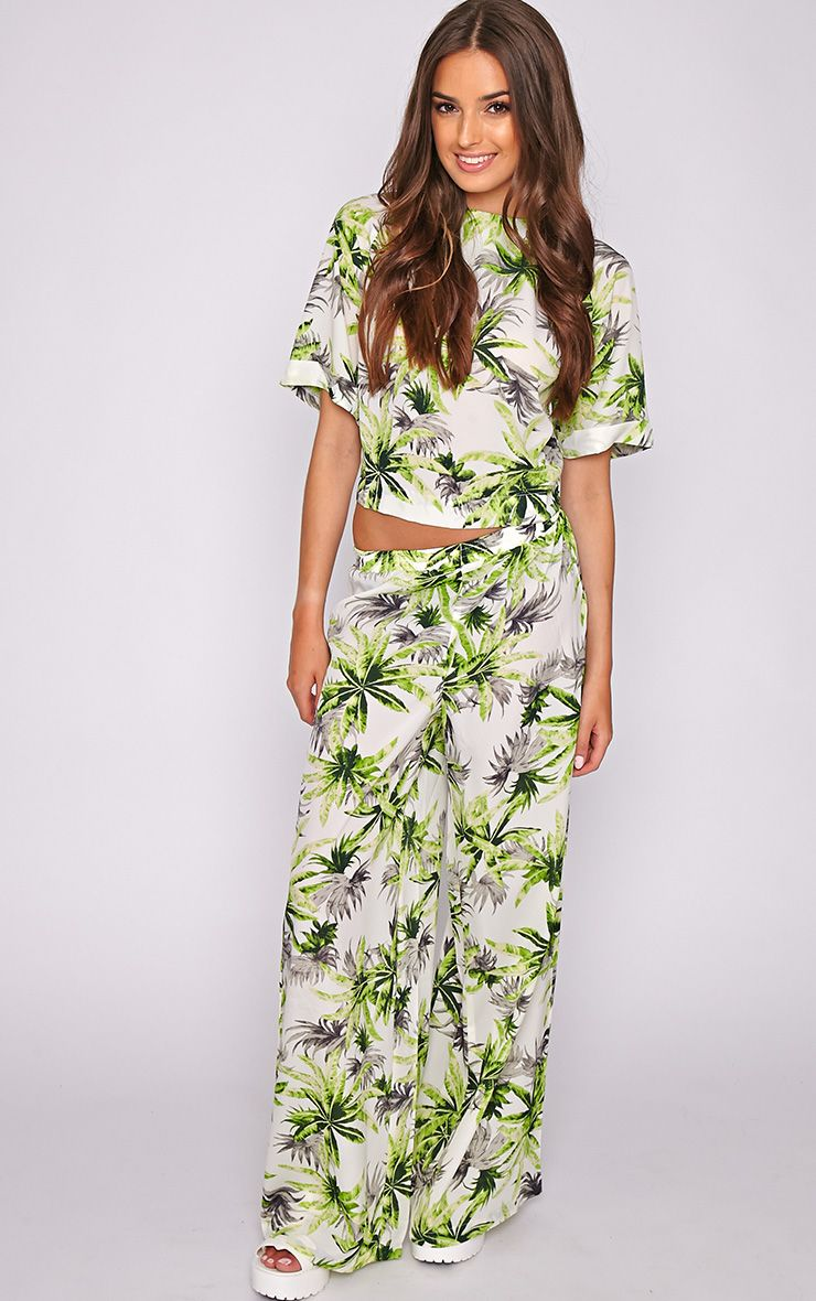 Jocelyn Green Leaf Print Trouser -L 1