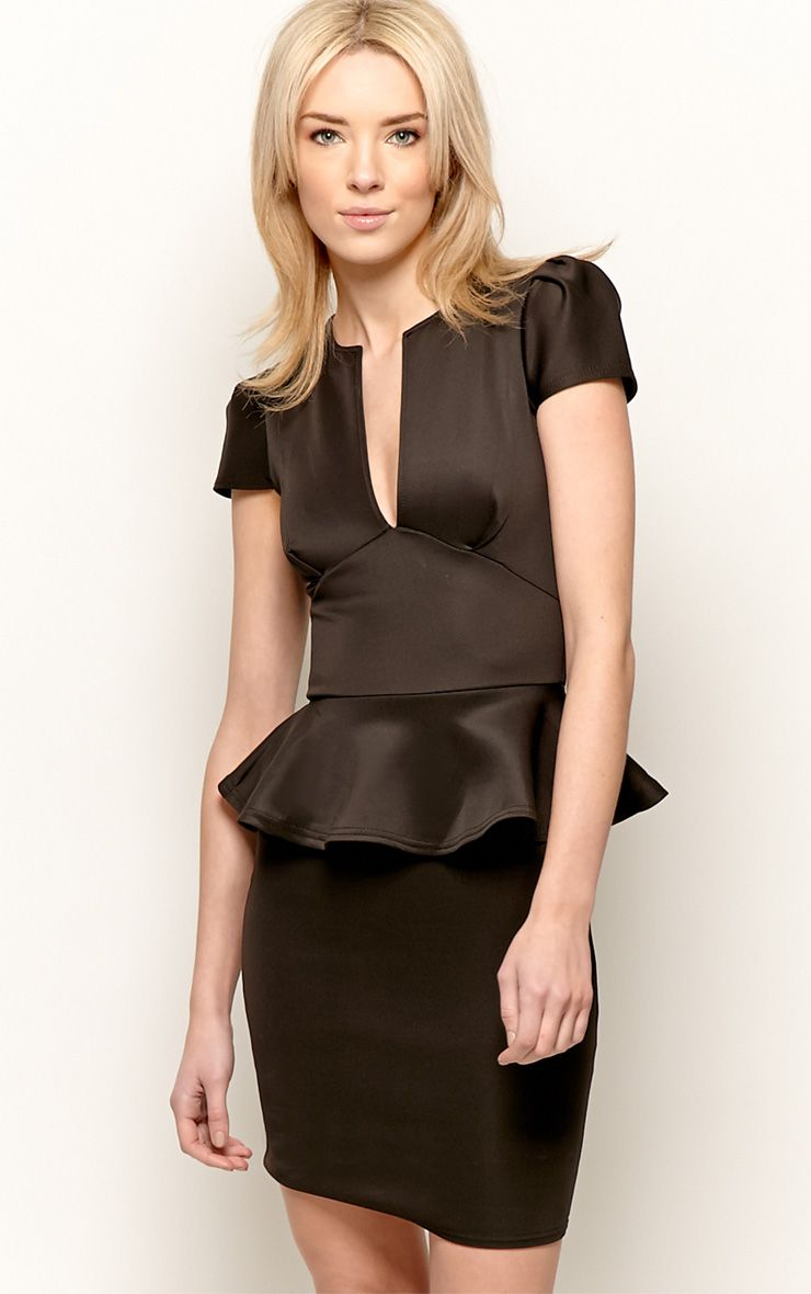 Black Peplum Dress 1