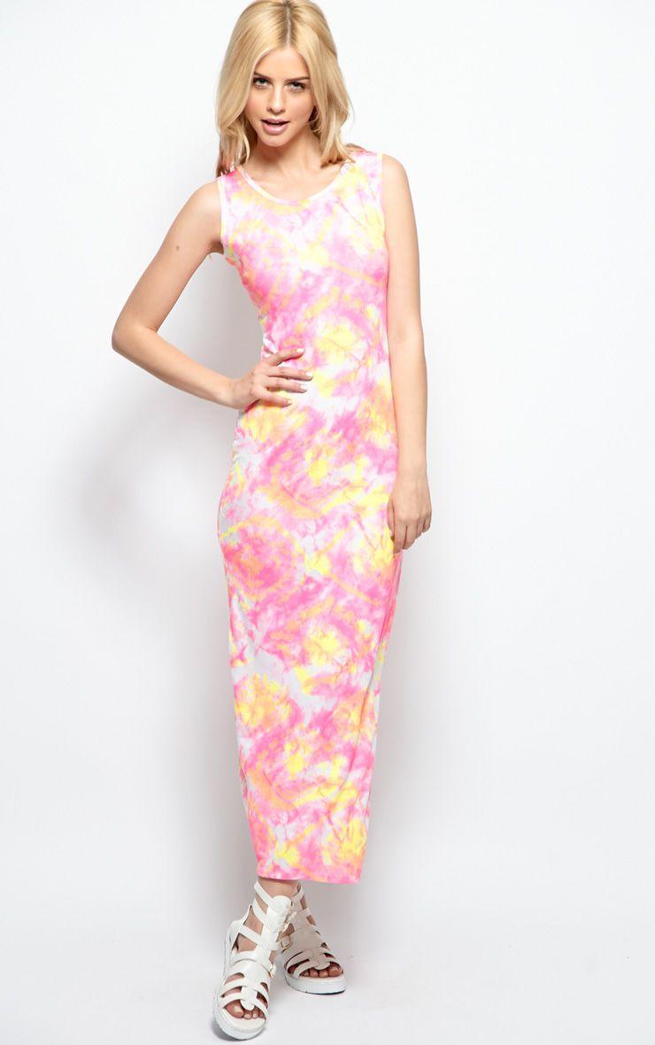 Anna Pink Maxi Dress 1