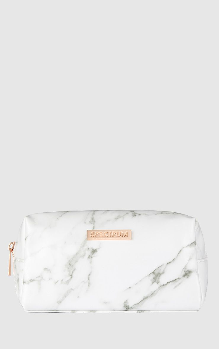 Spectrum White Marbleous Cosmetic Bag 1