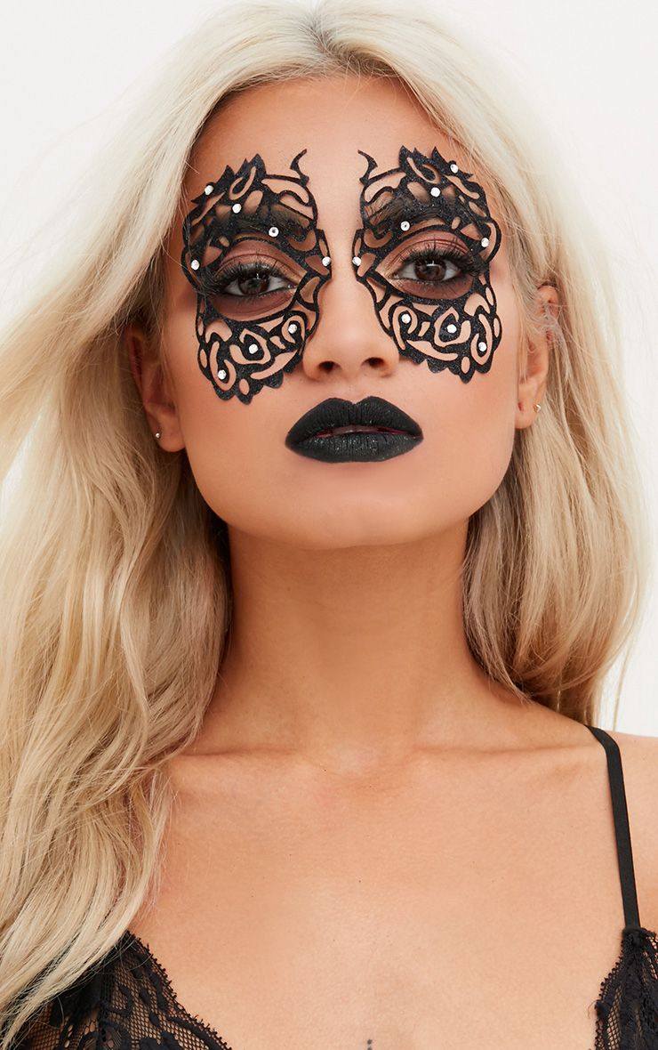 Black Masquerade Mask Face Sticker