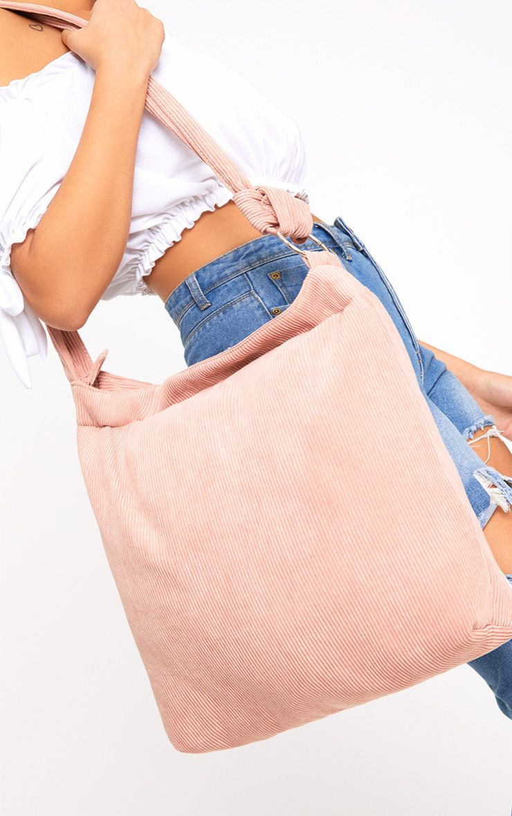 Pink Cord Oversized Shopper