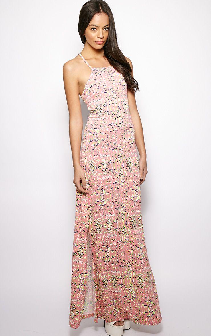 Freya Pink Print Maxi Dress  1