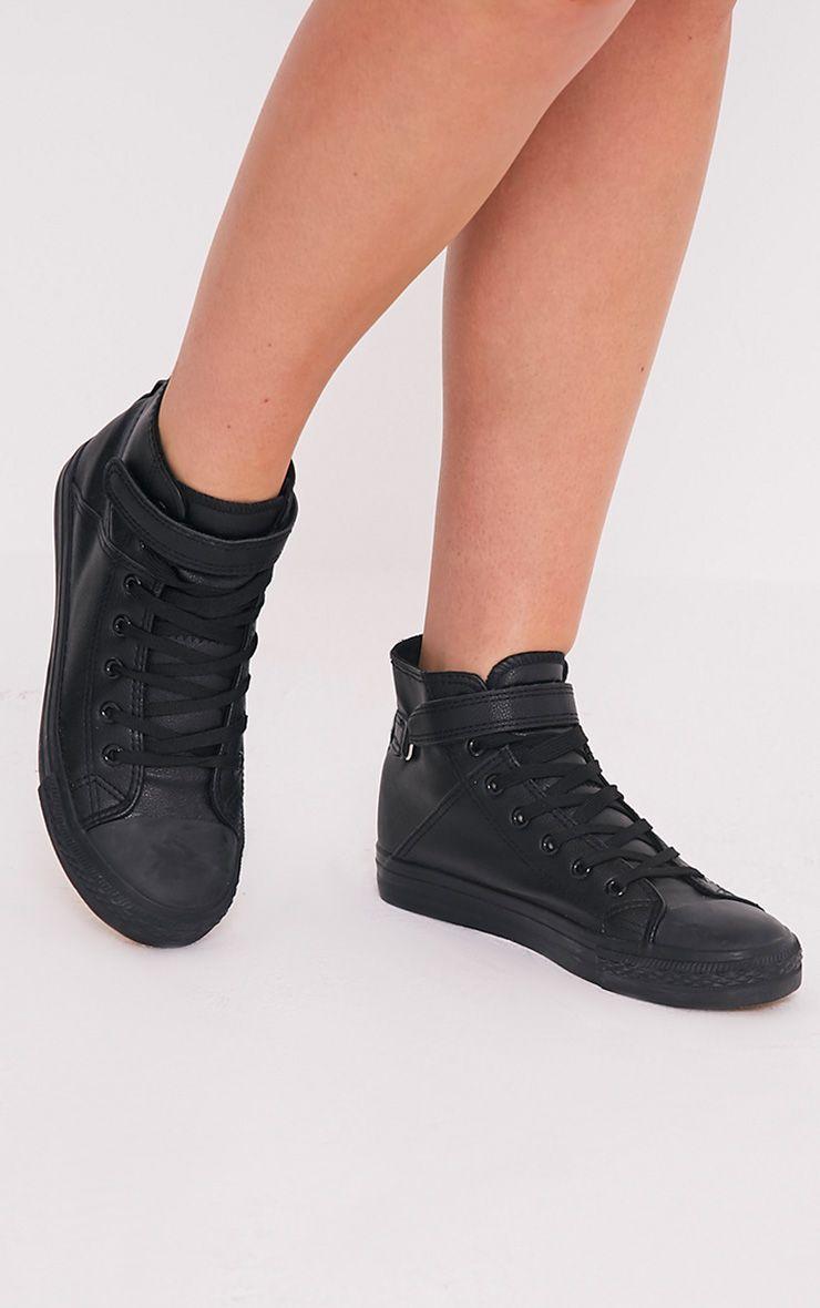 Oona Black High Top Sneakers 1