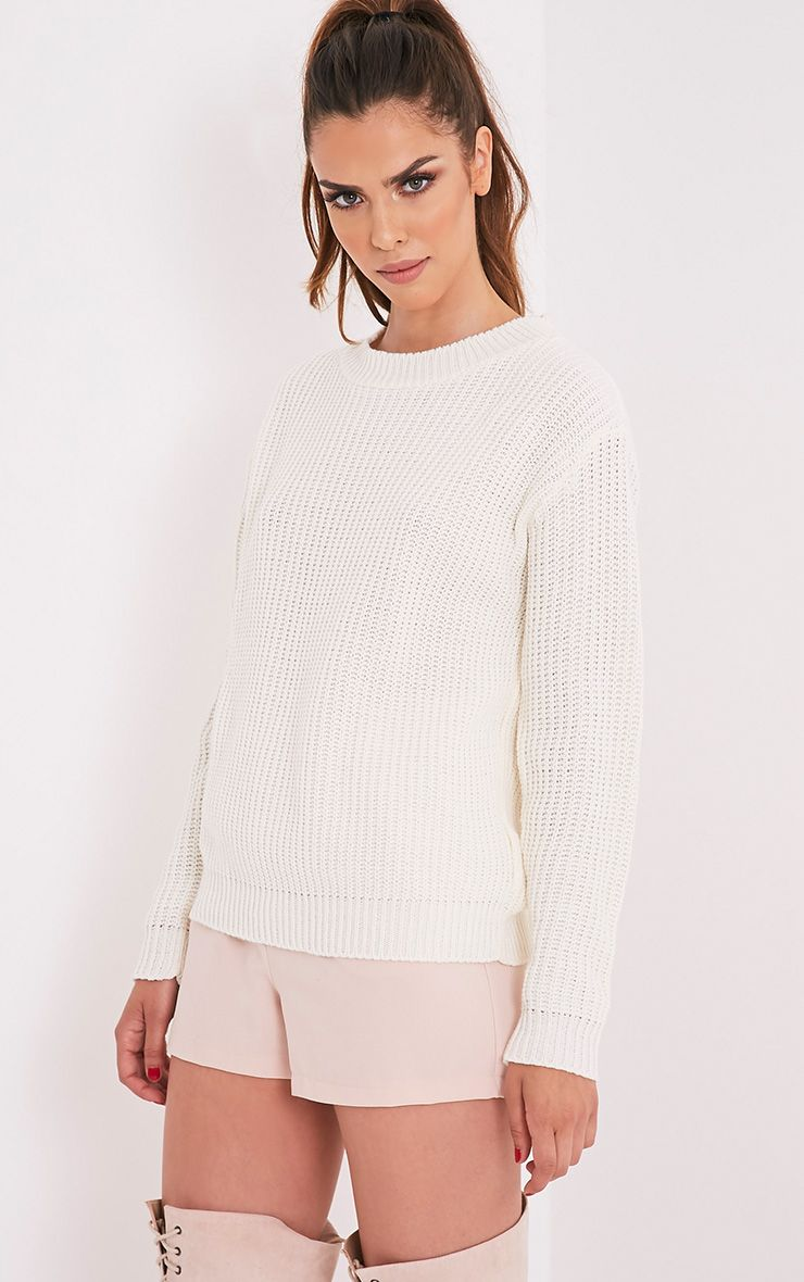 Chenai Cream Fisherman Knit Jumper