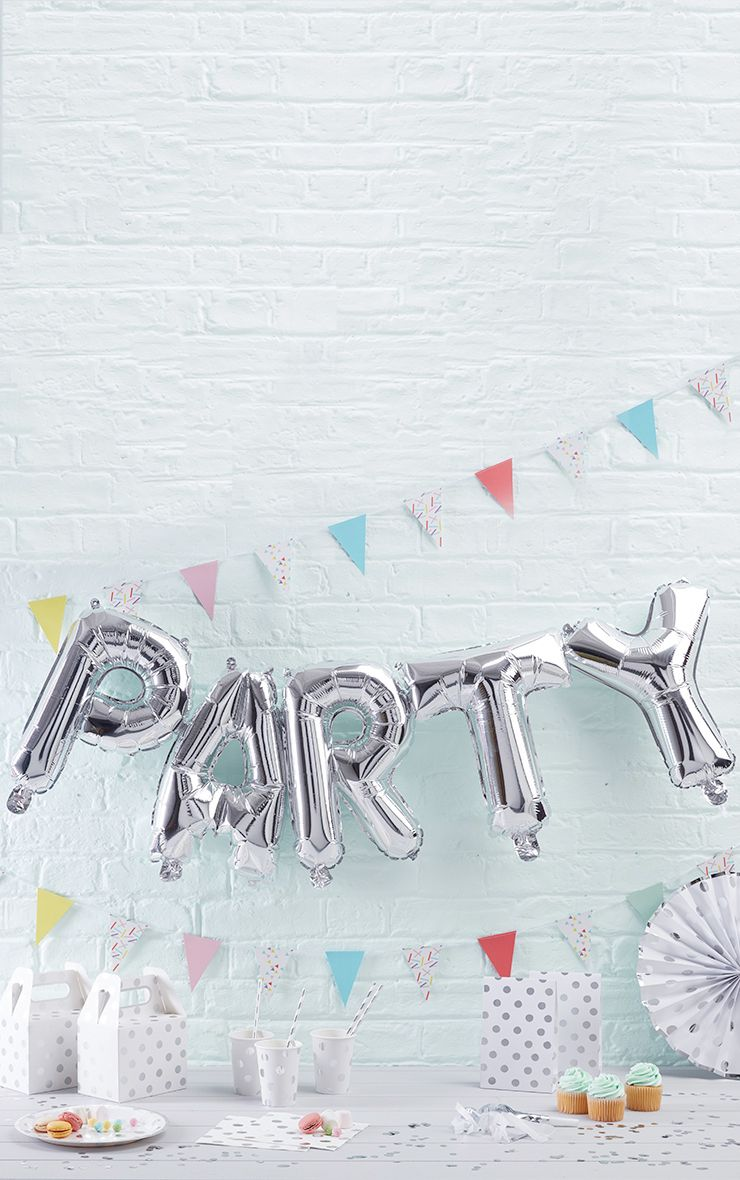Gold 'Party' Balloon Bunting - ONE SIZE