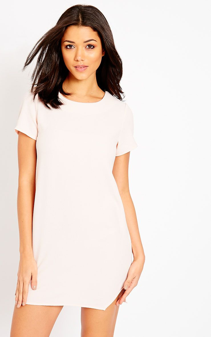 Jeni Baby Pink Crew Neck Shift Dress 1