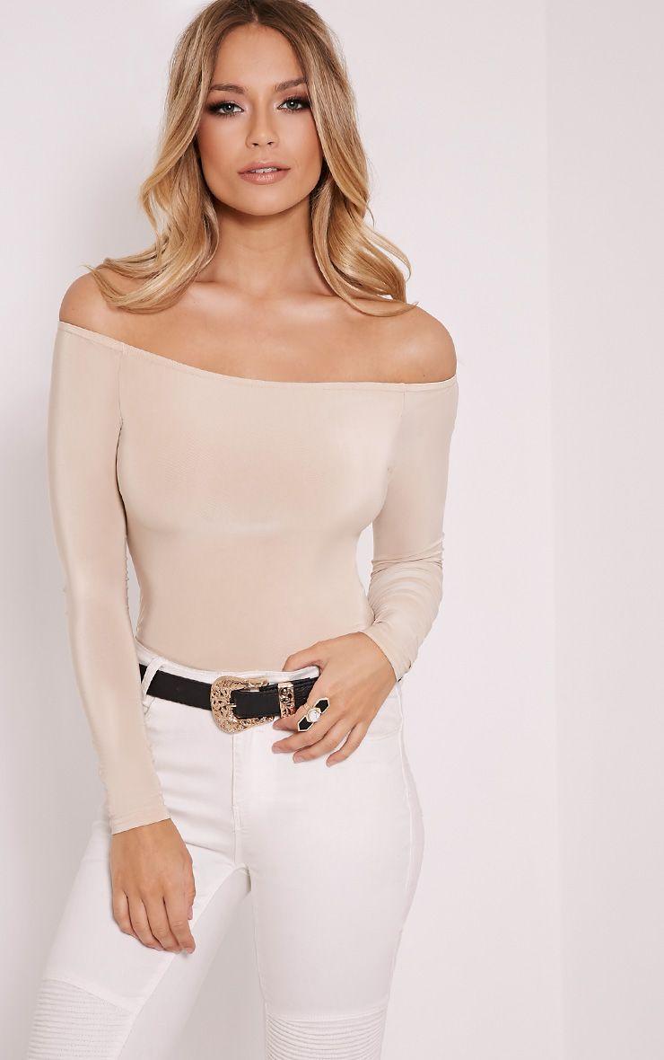 Rossalyn Stone Slinky Bardot Bodysuit