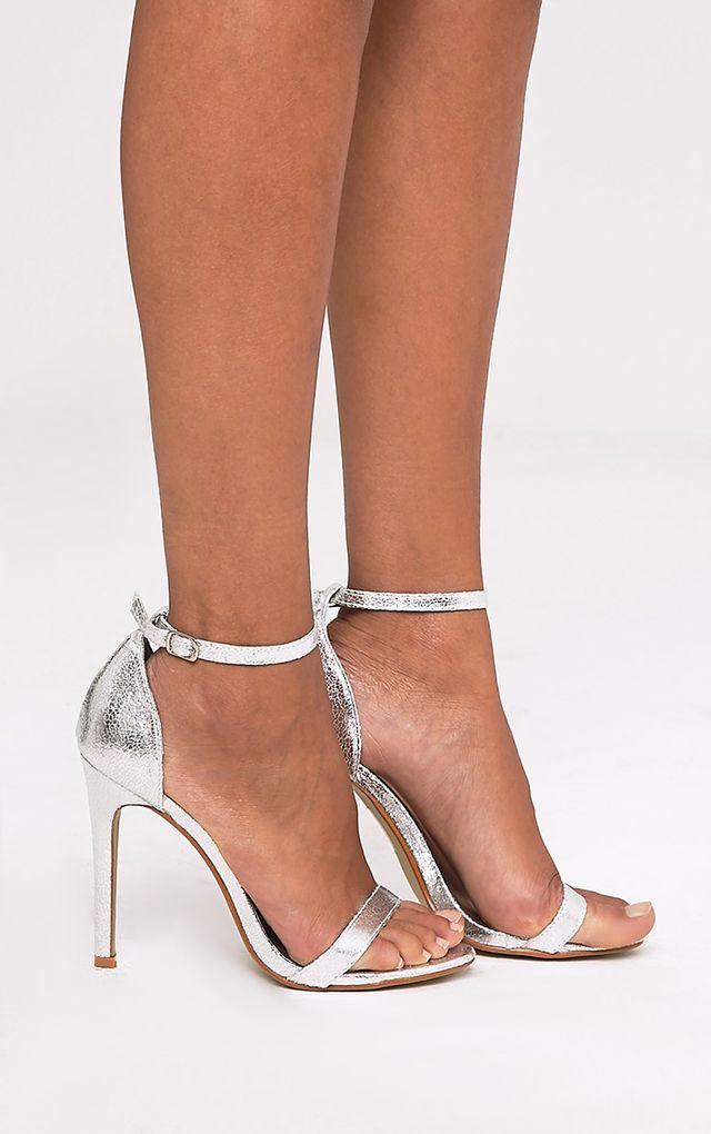 Clover sandales à talons à brides argent métallisé dbdbd98546f9
