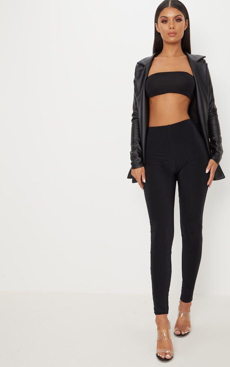 Black Double Layer Slinky Legging