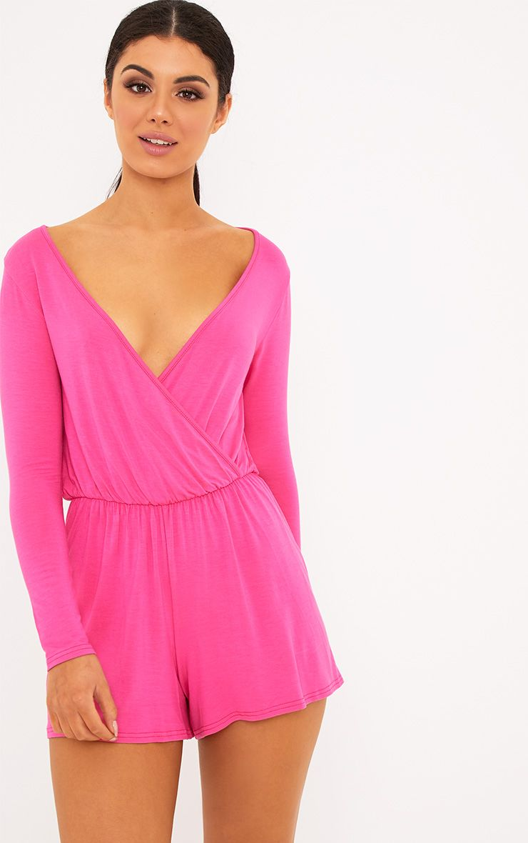 Alishah Hot Pink Basic Playsuit