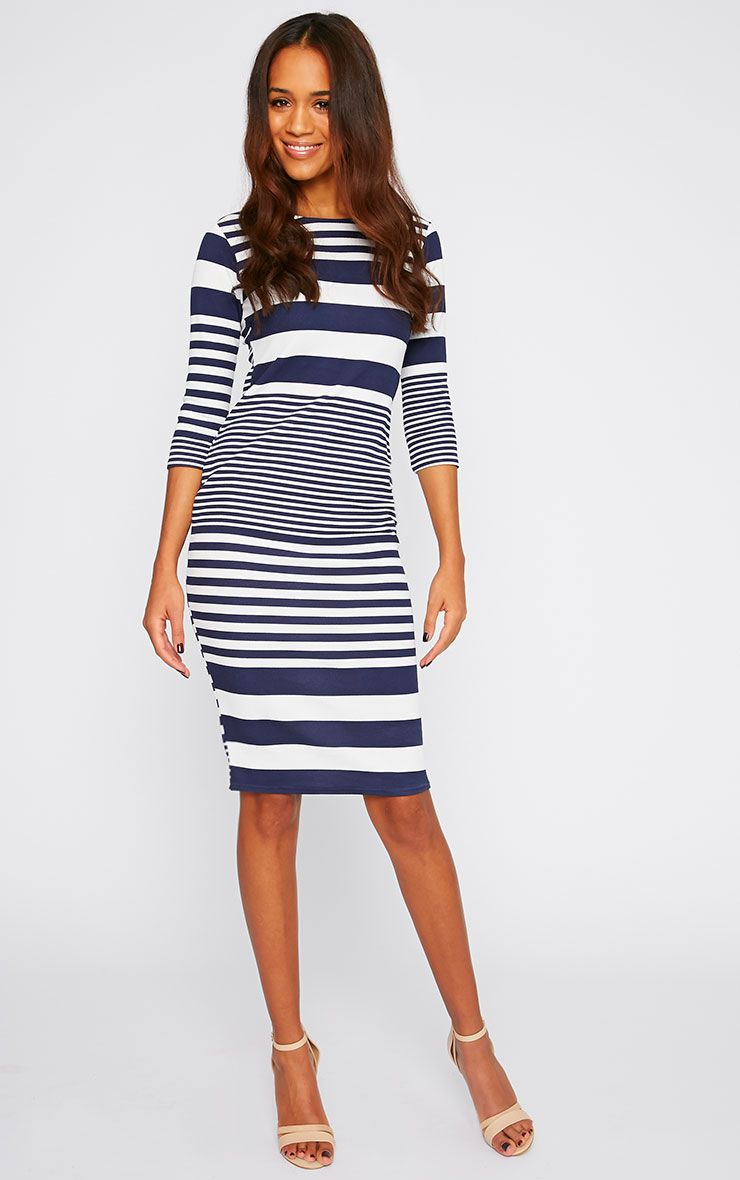 Honor Nautical Stripe Midi Dress 1