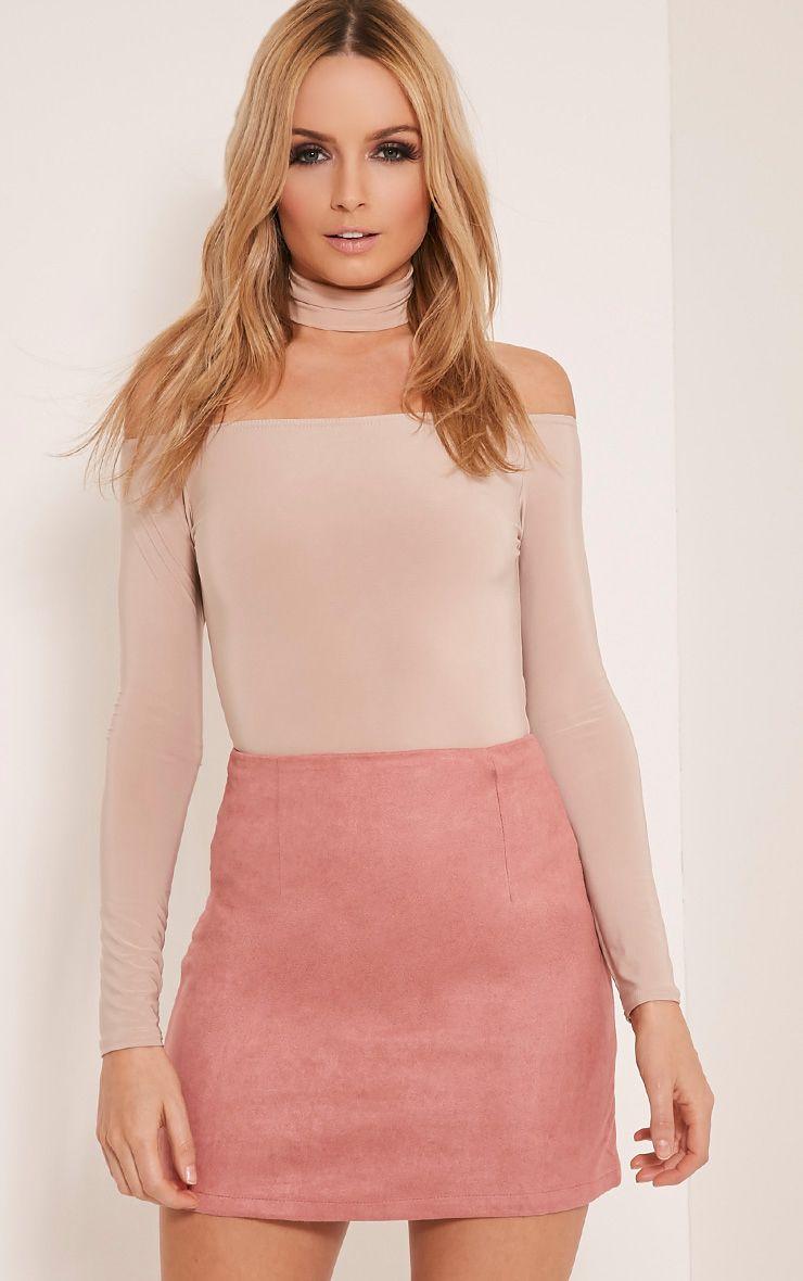 Lauree Rose Faux Suede Mini Skirt 1